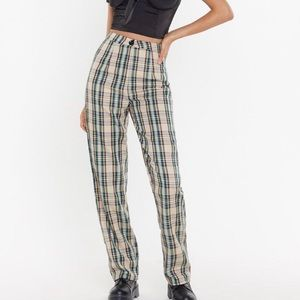 Nasty Gal Checking-out high waisted pants